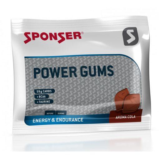 Sponser Power Gums Gumicukor Koffeinmentes, Cola, 75g