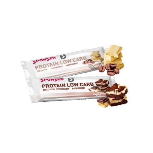 Sponser Protein Low Carb Fehérjeszelet, csokoládé-brownie 50g