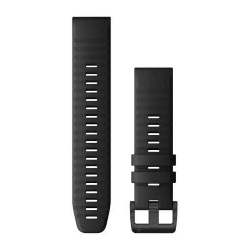 GARMIN Fenix 6 (QuickFit) szilikon óraszíj, 22 mm - fekete, fekete csat
