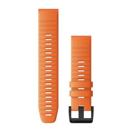 GARMIN Fenix 6 (QuickFit) szilikon óraszíj, 22 mm - narancssárga, fekete csat