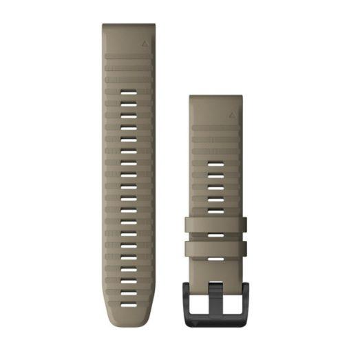 GARMIN Fenix 6 (QuickFit) szilikon óraszíj, 22 mm - homokkő, fekete csat