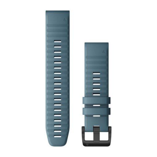 GARMIN Fenix 6 (QuickFit) szilikon óraszíj, 22 mm - tópart kék, fekete csat