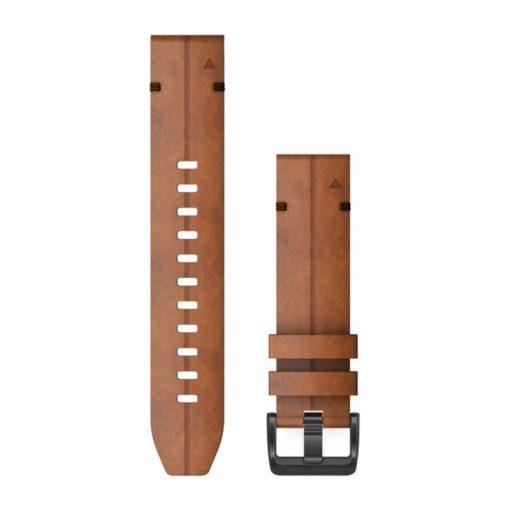 GARMIN Fenix 6 (QuickFit) bőr óraszíj, 22 mm - gesztenye, fekete csat