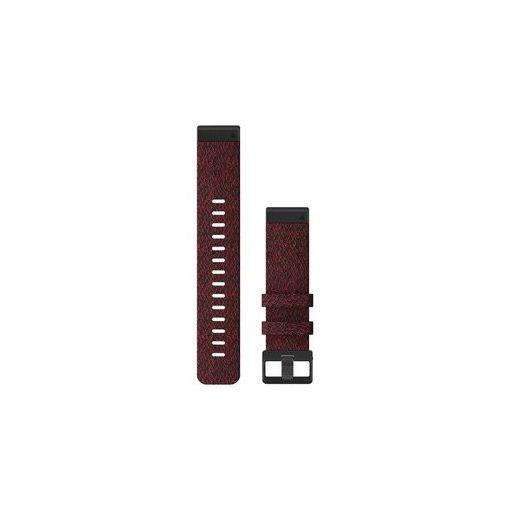 GARMIN Fenix 6 (QuickFit) nylon óraszíj, 22 mm - piros, fekete csat