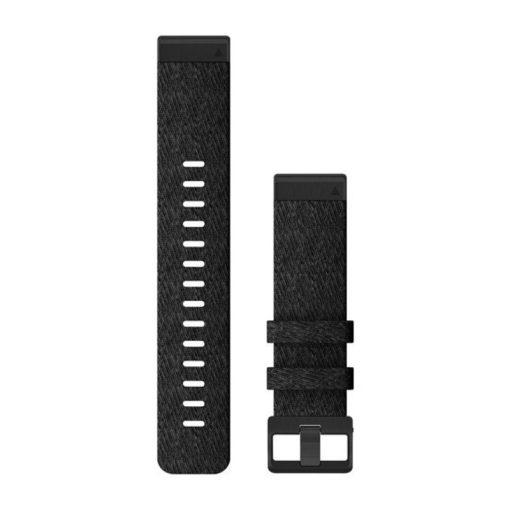 GARMIN Fenix 6 (QuickFit) nylon óraszíj, 22 mm - fekete, fekete csat