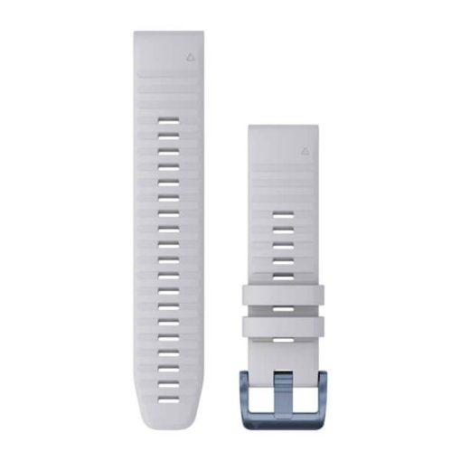 GARMIN Fenix 6 Solar (QuickFit) szilikon óraszíj, 22 mm - fehér kő, ásványkék csat