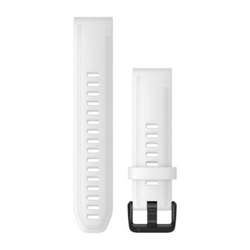 GARMIN Fenix 6S (QuickFit) szilikon óraszíj, 20 mm - fehér, fekete csat