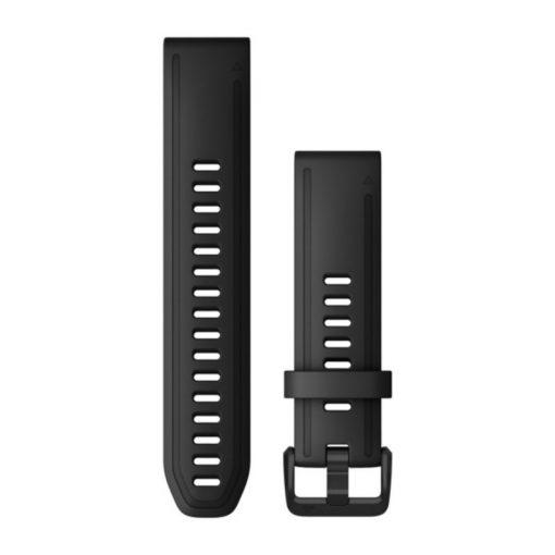 GARMIN Fenix 6S (QuickFit) szilikon óraszíj, 20 mm - fekete, fekete csat