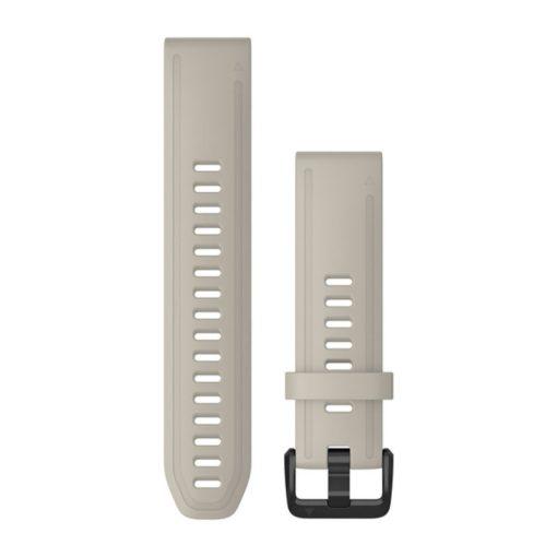 GARMIN Fenix 6S (QuickFit) szilikon óraszíj, 20 mm - világos homok, fekete csat