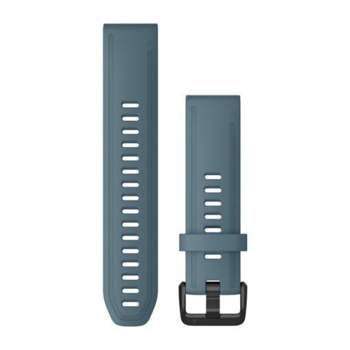GARMIN Fenix 6S (QuickFit) szilikon óraszíj, 20 mm - tópart kék, fekete csat