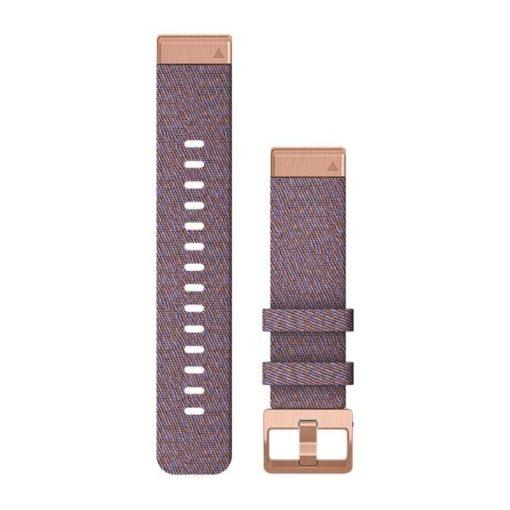 GARMIN Fenix 6S (QuickFit) nylon óraszíj, 20 mm - lila, rose gold csat
