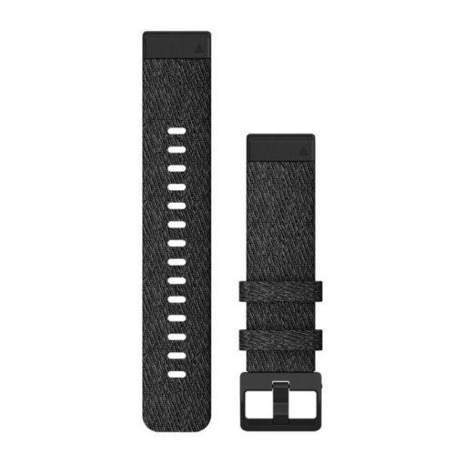 GARMIN Fenix 6S (QuickFit) nylon óraszíj, 20 mm - fekete, fekete csat