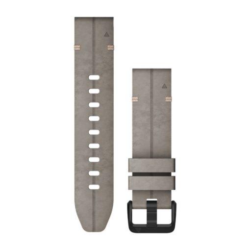 GARMIN Fenix 6S (QuickFit) velúrbőr óraszíj, 20 mm - palaszürke, fekete csat