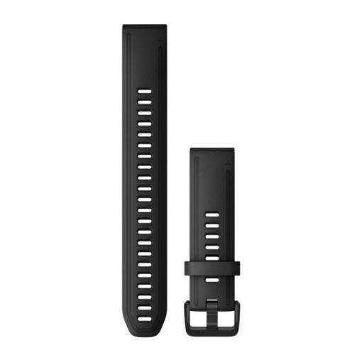 GARMIN Fenix 6S Large (QuickFit) szilikon óraszíj, 20 mm - fekete, fekete csat