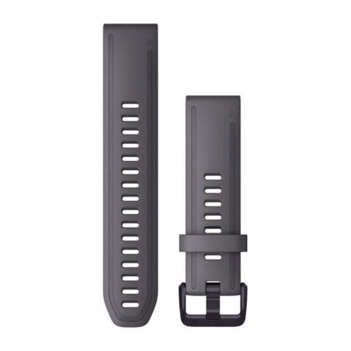 GARMIN Fenix 6S Solar (QuickFit) szilikon óraszíj, 20 mm - palaszürke, fekete csat